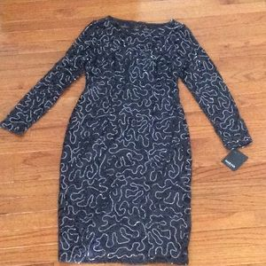 🆕 Marina sequin lace dress gunmetal- size 12